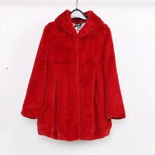 Luxury Faux Fur Hooded Parka Coat Overcoat Womens Warm 6XL/S Long Jacket Outwear