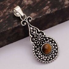 "Jewelry 1.8"" Ap 16062 Tiger Eye Ethnic Handmade Pendant"