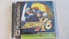 MEGAMAN X4 AND MEGAMAN X5 PS1 VIDEO GAME LOT PLAYSTATION COMPLETE