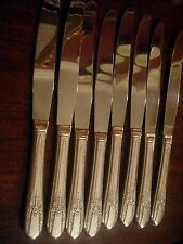 EIGHT Wm Rogers REFLECTION Silverplate dinner knives  EXCELLENT