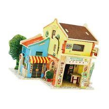 3D Jigsaw Wood Miniature 1/24 Diy Doll House Kit Model Chinatown in Malaysia