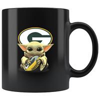 Green Bay PACKERS Baby Yoda Star Wars Cute Yoda PACKERS Funny Yoda Coffee Mug