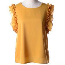 Women's Fashion Chiffon Tops Tank Sleeveless T-Shirt Casual Blouse Vest S M L