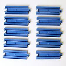 Tomy Tomica - 10 x Half Straight Rails - Plarail - Thomas Trackmaster - Blue