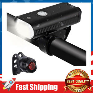 LED Bike Light Set,8+ Hours Mountain Road Cycling Safety Flashlight with 3 Modes