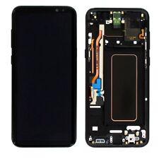 Display LCD Komplettset GH97-20470A Schwarz für Samsung Galaxy S8 Plus G955 F