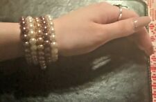 Glass Pearl Bracelets Set Of 5 New Boxed