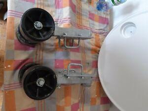Sliprollen mit Pendel für Bootstrailer, Sliphilfe,1Paar,Bootsauflagen