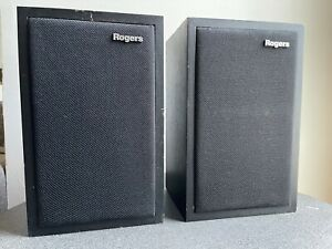 Vintage Rogers LS3/5A Monitor LoudSpeakers - British High Fidelity With KEF B110