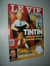 LE VIF L'EXPRESS 2521 ( 4/11/99) TINTIN HERGE FOREST WHITAKER MILLA JOVOVICH