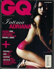 ADIANNA LIMA Italian GQ Magazine 12/05 INTIMA LINGERIE RED HOT