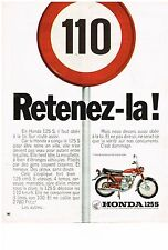 PUBLICITE ADVERSTISING  1972   HONDA 125 S     scooter 2