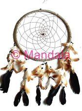 Attrape Rêves (Dreamcatcher) 32 CM - Finition Marron Naturel