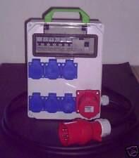 Stromverteiler 32A auf 6xSchuko 1x CEE16A  mit Fi-Schalter