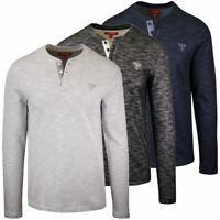 GUESS Men's Dunston Henley L/S T-Shirt (Retail $39.99) S01