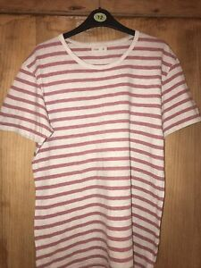 Folk T Shirt Grey And  Pink. Size M