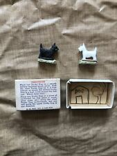 Vintage 1940s Super Magnetic Tricky Dogs Novelty Toy in Box Scotty Terrier