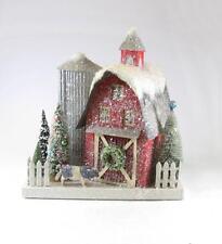 Cody Foster Christmas Mantel Village Vintage Red Farm Barn Building