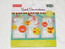 FISHER PRICE BABY  SHOWER 1 SWIRL DECORATIONS   -   PARTY SUPPLIES