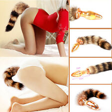 Prostate-Massager-Glass-Anal-Insert-Stopper-Fox-Tail-Glass-Butt-Plug-Adult-Toy&