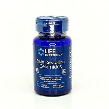 Life Extension Skin Restoring Ceramides 30 Liquid Vegetarian Capsules Exp 04/22