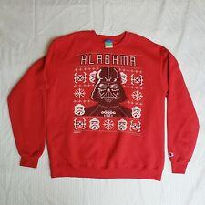 Alabama Darth Vader Christmas  Red Crew Sweatshirt  XL