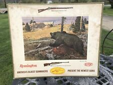 1966 Remington Cardboard Counter Top Advertisement, Rogue Grizzly 1860's