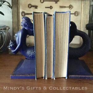 Set of  2 Heavy Antique Style Mermaid Book Ends Bookends Doorstop