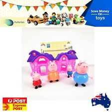 Peppa Pig Family Home Playhouse House Play Set Toy Figure Daddy Mummy George AU