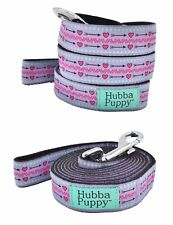 Hubba Puppy Hearts & Arrows Leash Purple & Pink 6 ft Length Nylon Sturdy Strong