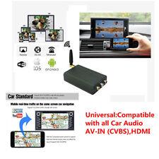 Car Miracast Airplay Adapter caAudio AV-IN (CVBS) HDMI for Smartphone Ipad Ipod