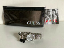 NEW! GUESS WAFER SILVER DIAL SWAROVSKI CRYSTALS BRACELET WATCH $85 W0687L1 SALE