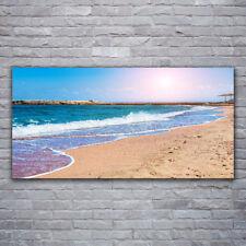Leinwand-Bilder 100x50 Wandbild Canvas Kunstdruck Felsen Strand Sonne Landschaft