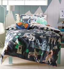 Boys Knights, Dragons and Castle Toddler Bedding - 100% Cotton
