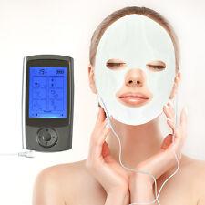 16 Modes LCD Electric  Pulse Massager +Massage Face&Eye Rim Masks