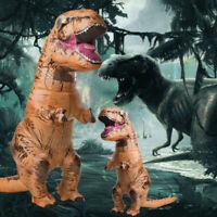 2.2M Inflatable Dinosaur Fancy Costume Adult Halloween Jurassic Park T-Rex Blow