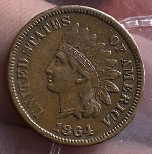 Us Indian cent 1864 L very high grade