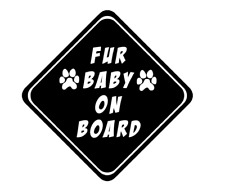 Fur Baby On Board Car Decal Sticker Dog Cat Pet Puppy Vinyl Window Love Fun Ipad