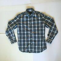 Banana Republic Men's Black White Plaid Button Up Shirt M 15-15 1/2 Long Sleeve