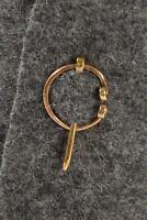 Mittelalter Fibel Tyr (Set) 3 cm aus Messing Golden | Wikinger Gewandung LARP