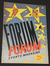 1952/53 - MONTREAL CANADIENS vs BOSTON BRUINS - MONTREAL FORUM - PROGRAM