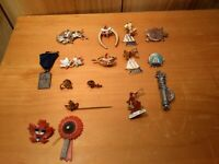 LOT of 16 vintage pinbacks Canada, N.S., PEI WW2 victory, tie pins, stick pin