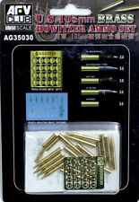 AFV Club 1/35 AG35030 WWII US 105mm Howitzer Ammo Set (Brass)