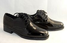 "NEW ~ FREDERICO LEONE ""GENOA"" BLACK PATENT LEATHER TUXEDO DRESS SHOES SIZE 7WW"