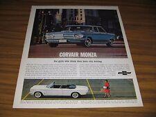 1963 Print Ad The '63 Corvair Monza 4-Door Sedan & Convertible Chevrolet Chevy