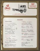 1972 Mack F785RS original Australian sales brochure