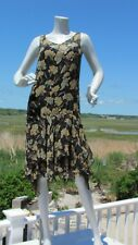 NEW RRL S dress $695 Ralph Lauren crinkled silk slip black floral vintage look