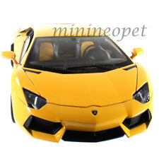 WELLY 18041W LAMBORGHINI AVENTADOR LP700-4 1/18 DIECAST MODEL CAR YELLOW