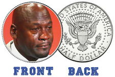 Crying Michael Jordan Real US Half Dollar Collector Coin Limited Edition