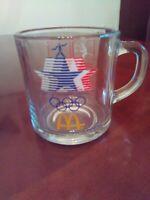 Vintage 1984 Olympics McDonalds XXII 23rd Olympics Glass Coffee MUG